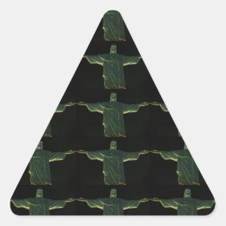 El redentor pegatina triangular