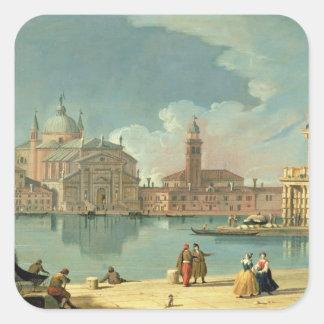 El Redentore, Venecia Pegatina Cuadrada