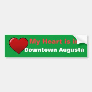 el redheart, mi corazón está adentro, Augusta cént Pegatina Para Auto