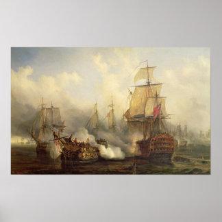 El Redoutable en Trafalgar, el 21 de octubre de 18 Impresiones