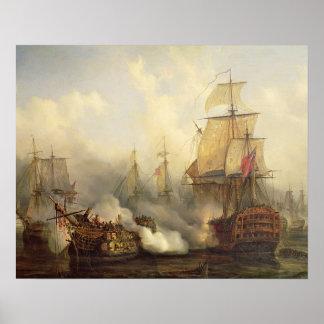 El Redoutable en Trafalgar, el 21 de octubre de 18 Póster