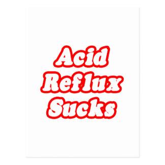 El reflujo ácido chupa postales