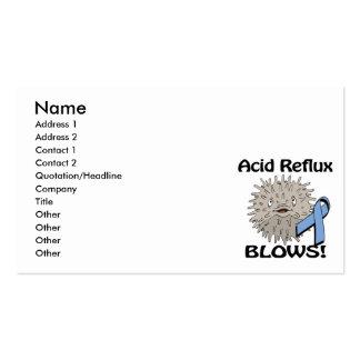 El reflujo ácido sopla diseño de la conciencia tarjetas de visita