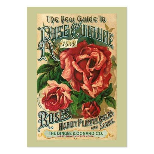 El regalo ANTIGUO de los ROSAS marca la más dulce Tarjetas De Visita Grandes