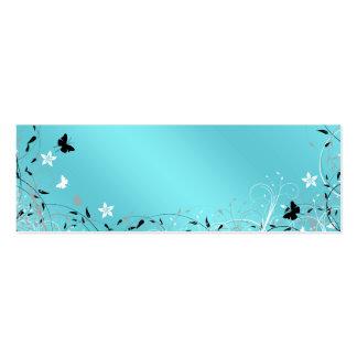 El regalo azul de la mariposa del trullo marca la tarjetas de visita mini