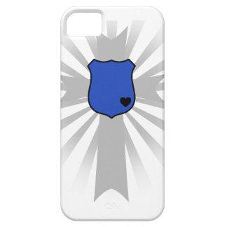 El regalo Blue Line fino de la policía Badge la iPhone 5 Carcasa