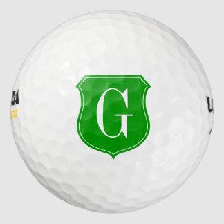 El regalo con monograma de encargo de la pelota de pack de pelotas de golf