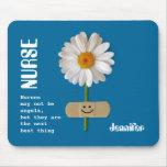 El regalo conocido Mousepad de la enfermera de enc Tapetes De Ratón
