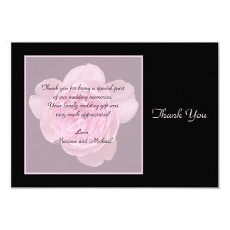 El regalo de boda color de rosa le agradece las comunicado