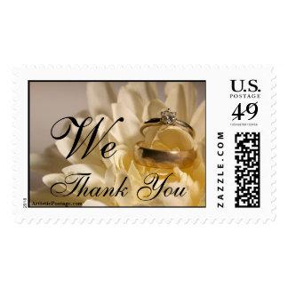 El regalo de boda le agradece las gracias de la estampilla