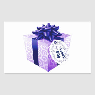 El regalo de dios a las mujeres pegatina rectangular