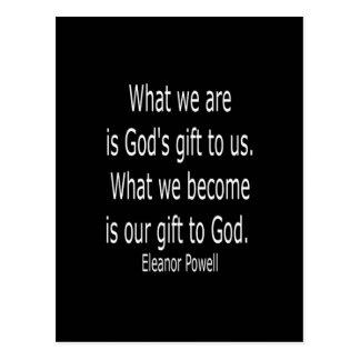 El regalo de dios…. Cita de Powell Postal