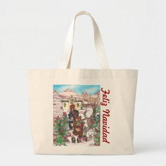 El regalo de Feliz Navidad lleva el tote Bolsa