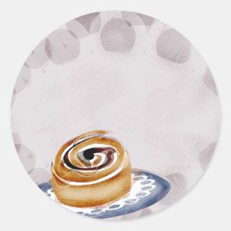 el regalo de la hornada del panadero del bollo de pegatina redonda