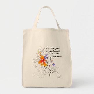 El regalo de las mujeres de Namaste Bolsa Tela Para La Compra