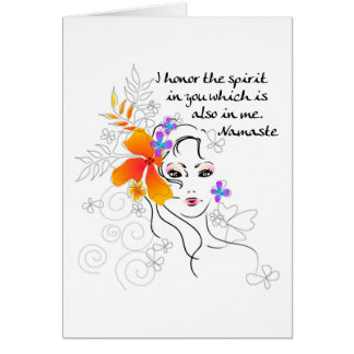 El regalo de las mujeres de Namaste Tarjetón
