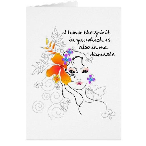 El regalo de las mujeres de Namaste Tarjeta De Felicitación