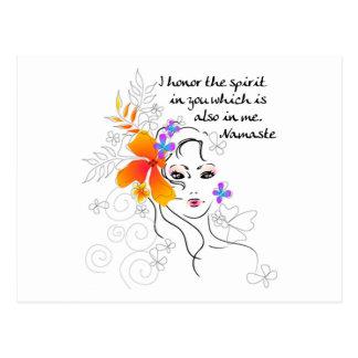 El regalo de las mujeres de Namaste Tarjetas Postales