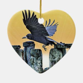 El regalo de los Corvid-amantes antiguos de Adornos