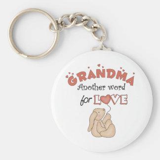 El regalo de los niños de la abuela llavero
