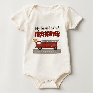El regalo de los niños del bombero del abuelo body para bebé