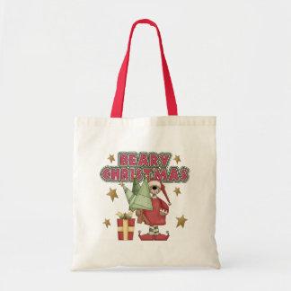El regalo de los niños del navidad bolsa lienzo