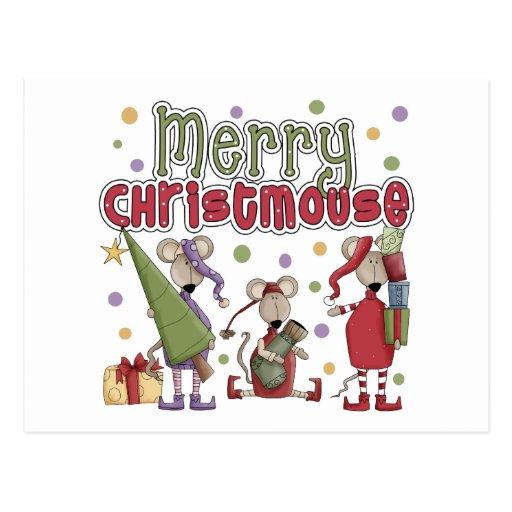 El regalo de los niños del navidad tarjeta postal