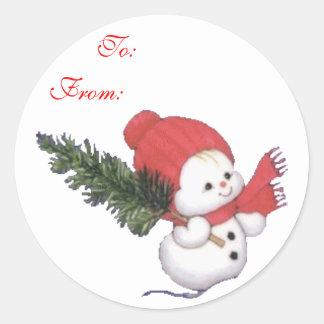 El regalo de Snowbaby etiqueta al pegatina