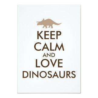 """El regalo del amante del dinosaurio mantiene el invitación 5"""" x 7"""""""