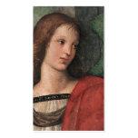 El regalo del ángel del navidad de Raphael marca t Tarjetas Personales