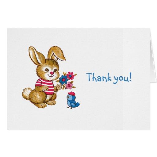 El regalo del bebé le agradece Notecard Tarjeta Pequeña