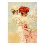 El regalo del estilo del ~esque del Victorian marc Tarjeta De Visita