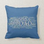 """el regalo del mensaje especial para el """"mejor papá almohadas"""