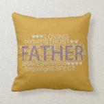 """el regalo del mensaje especial para el """"mejor papá almohada"""