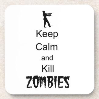 El regalo del zombi guarda calma y mata a zombis posavaso
