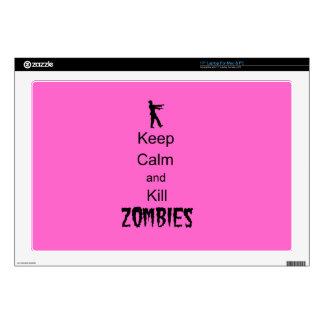 El regalo del zombi guarda calma y mata a zombis skins para 43,2cm portátiles