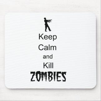 El regalo del zombi guarda calma y mata a zombis tapete de ratón
