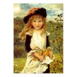 El regalo dulce del estilo del Victorian marca al  Plantilla De Tarjeta De Visita
