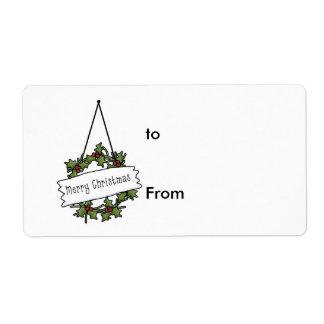 El regalo marca con etiqueta….ho ho etiqueta de envío