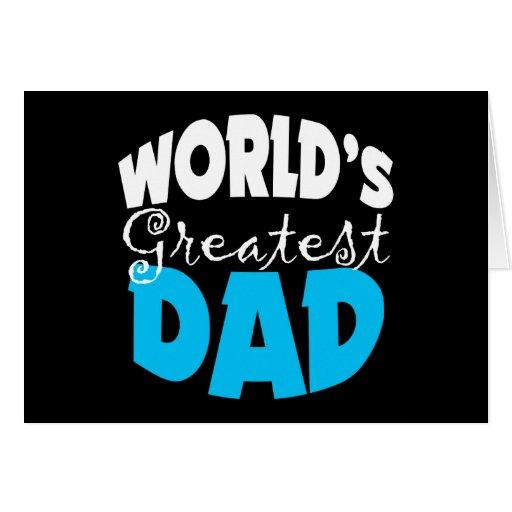 El regalo más grande del papá del mundo tarjeta de felicitación
