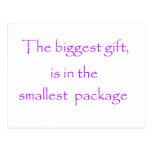 El regalo más grande - postal