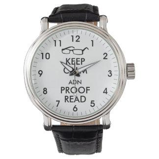 El regalo para los escritores guarda calma y la relojes
