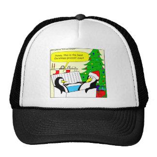 El regalo perfecto del navidad para un dibujo anim gorras