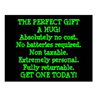 El regalo perfecto es un abrazo postal