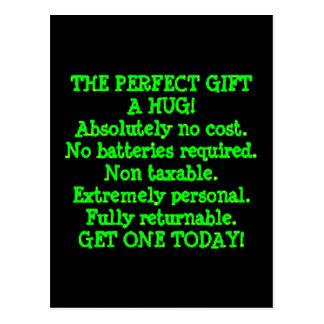 El regalo perfecto es un abrazo tarjetas postales