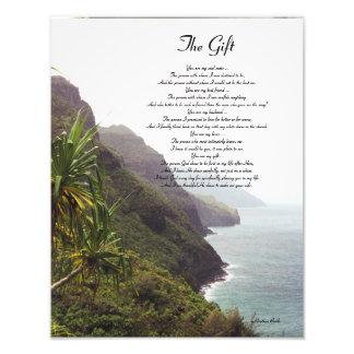 El regalo - un poema del amor, por el brezo Bodle Impresión Fotográfica