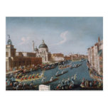 El Regatta de las mujeres en el Gran Canal, Tarjeta Postal