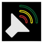 El reggae escucha poster