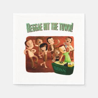 ¡El reggae golpeó la ciudad! Servilleta De Papel