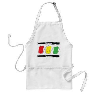 El reggae sazona el delantal con pimienta